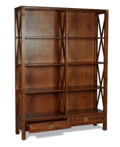 Balmoral chestnut double bookcase from Laura Ashley