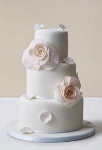 Blushing Rose Wedding Cake from M&S