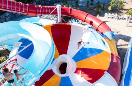 Bowl Water Slide at La Vallee Holiday Park