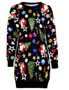 Christmas Long Sleeve Jumper Dress