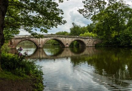View of Clumber Park Bridge
