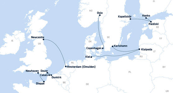 DFDS seaways ferry crossings