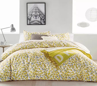 DKNY mustard cotton sateen bedding from Debenhams