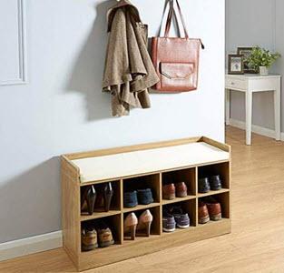 Kempton Shoe Bench from Dunelm