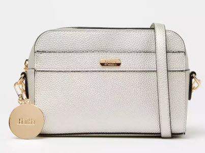 Faith silver cross body bag from Debenhams