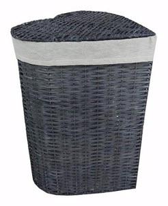 Grey Heart Wicker Laundry Basket from Dunelm