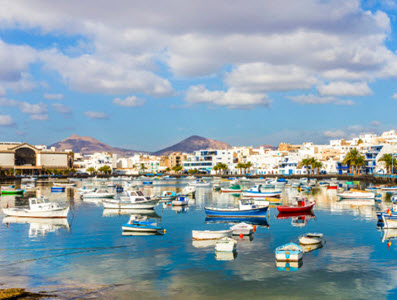 View of Lanzarote Harbour