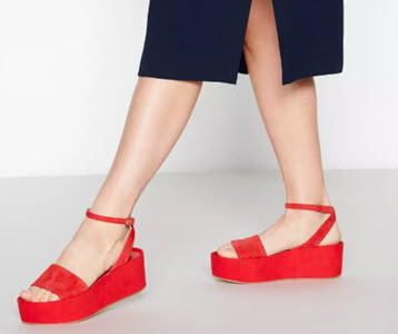 J by Jasper Conran red leather flatform