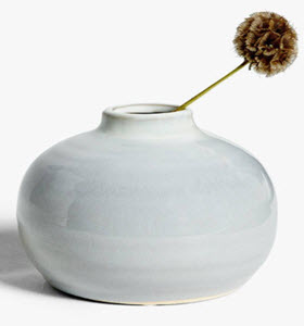 Grey round bud vase from John Lewis and Partners