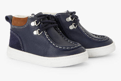 John Lewis and Partners Children's Billy High Top Boat Shoes