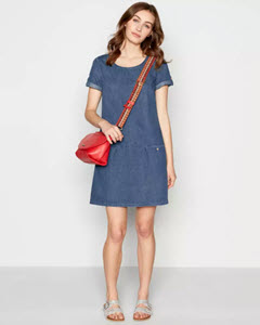 Mantaray Blue Denim Dress