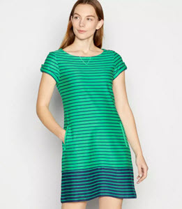 Mantaray Stripe Print Tunic Dress