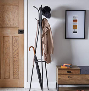 Metal Black Coat Stand from Dunelm