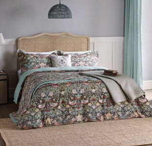 Morris & Co Strawberry Thief bedding from Debenhams