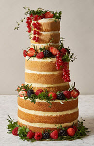 Naked Vanilla Wedding Cake from M&S