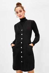 Oasis Black Denim Dress