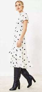 Oasis Leaf Print Midi Dress