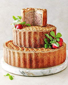Tiered Celebration Pork Pie Wedding Cake from M&S