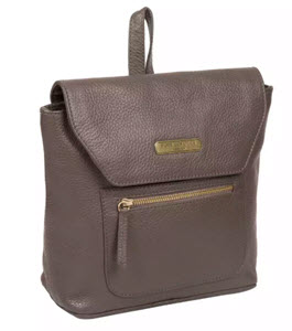 Pure Luxuries London Grey Leather Backpack