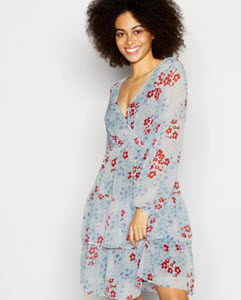 Red Herring blue floral dress from Debenhams