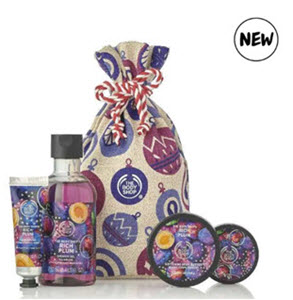Rich Plum Festive Sack from The Body Shop