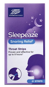 Boots Sleepeaze snoring throat strips