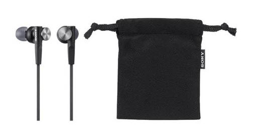 Sony In-ear Headphones with Pouch
