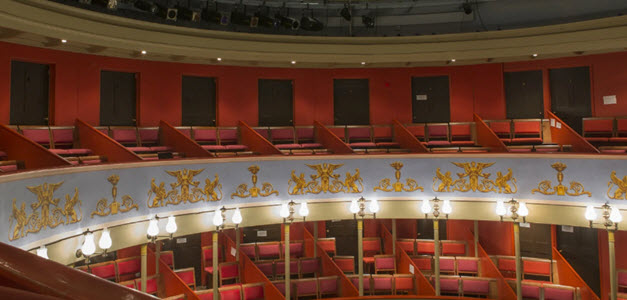 View of inside Theatre Royal Bury St Edmunds