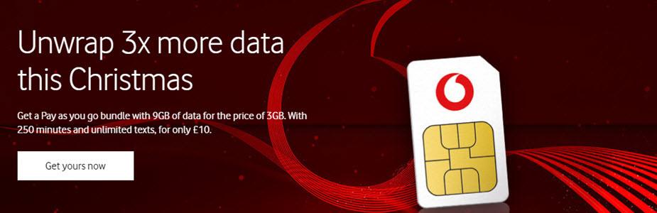 Vodafone 3x Data Banner