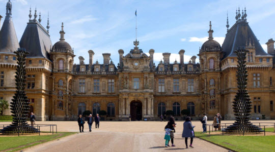 Exterior view of Waddesdon Manor