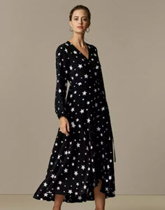 Wallis Star Midi Wrap Dress
