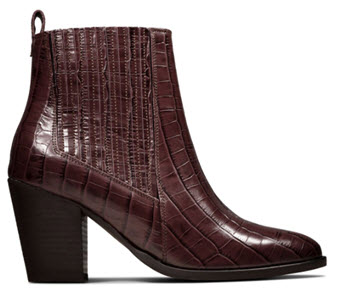 West Lo Snakeskin Ankle Boots from Clarks