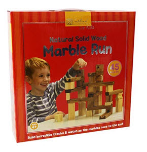 Wooden marble run game from The Works